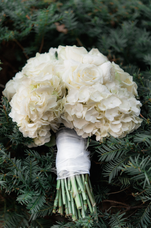 Longue Vue Club Wedding: Rose and Hydrangea Flowers