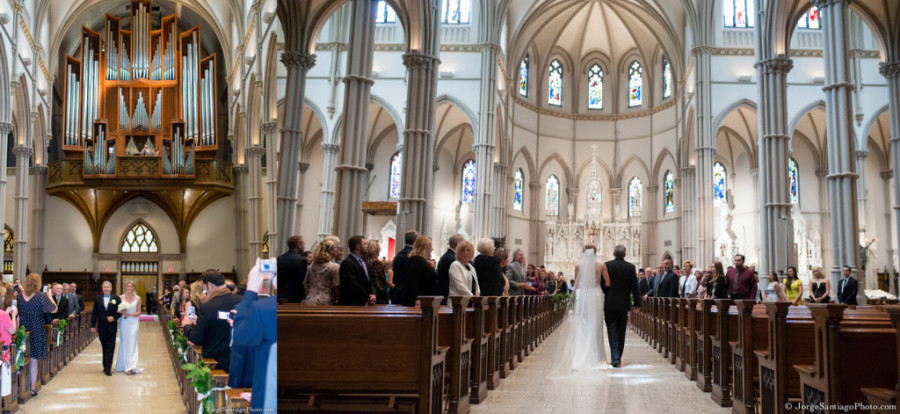 Duquesne University Ballroom Wedding - Bride Enters St. Paul's Cathedral