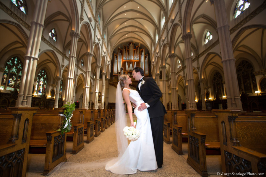 Duquesne University Ballroom Wedding - Bride and Groom in Church