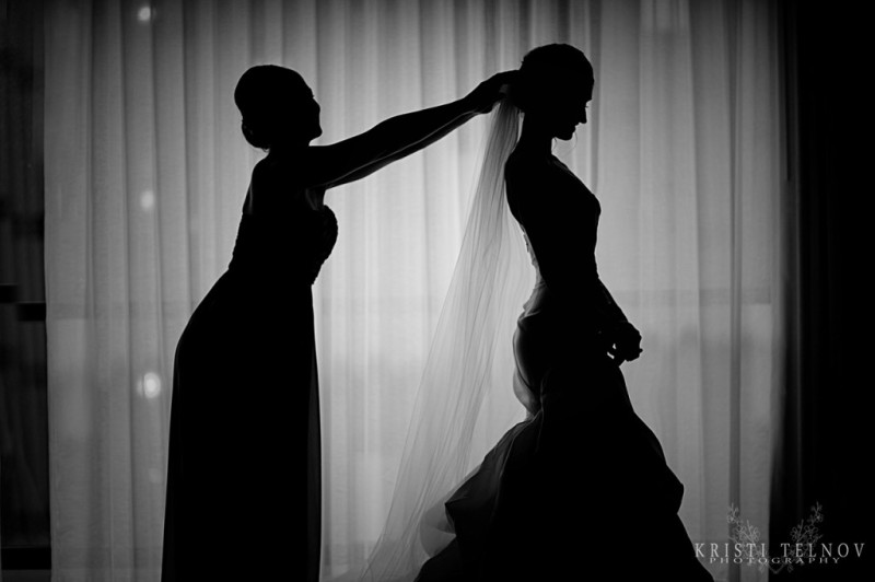 Renaissance Hotel Pittsburgh Wedding: Silhouette Photograph