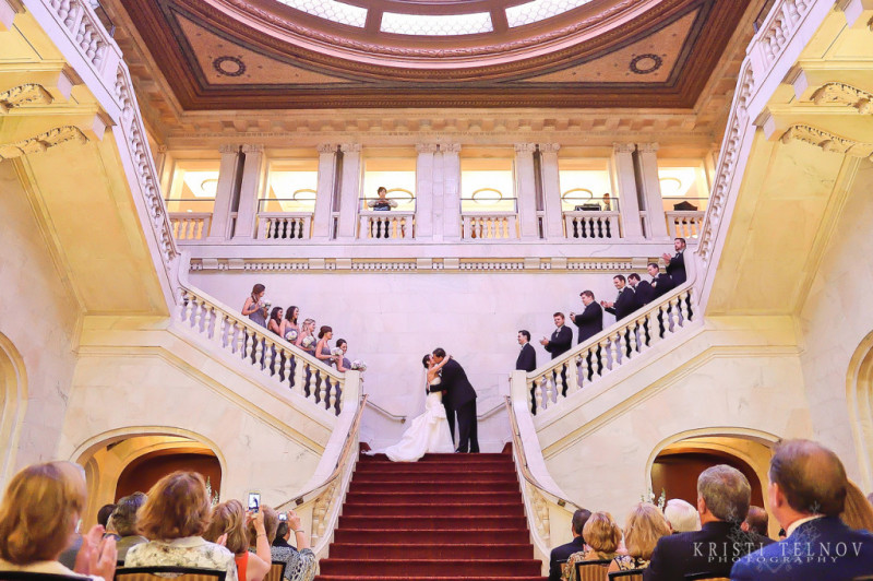 Renaissance Hotel Pittsburgh Wedding Ceremony: Exchanging Vows
