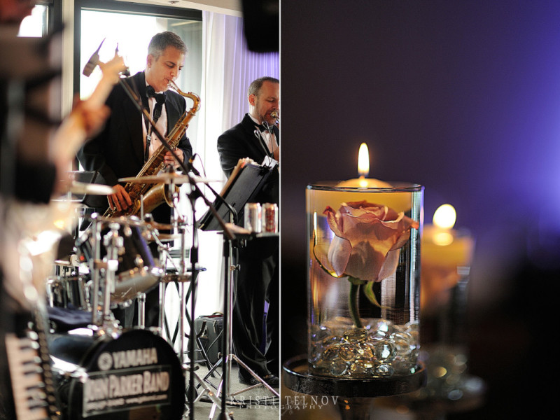Renaissance Hotel Pittsburgh Wedding Reception: Band Members Performing
