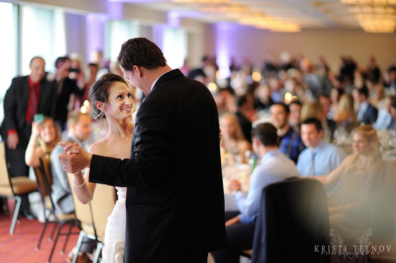 Renaissance Hotel Pittsburgh Wedding Reception: Newlyweds Dance to Wedding Band
