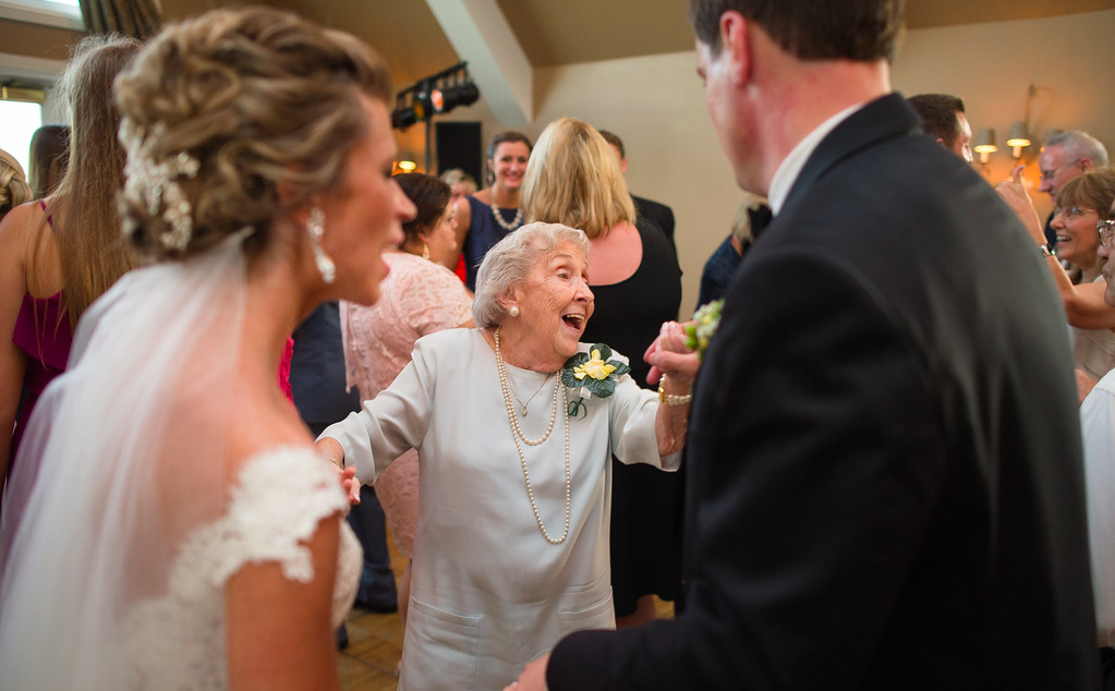 Nevillewood Country Club Reception Grandma and Bride Dancing Together