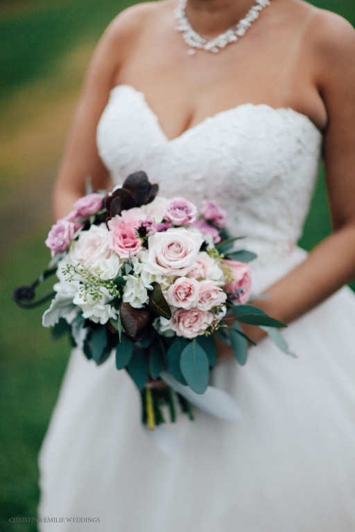 Rustic Acres Farm Pittsburgh Rustic Glam Barn Wedding Pink Rose Bridal Bouquet