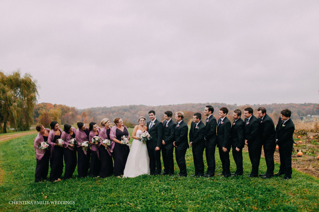 Rustic Acres Farm Pittsburgh Chic Barn Wedding Outdoor Wedding Party Portrait
