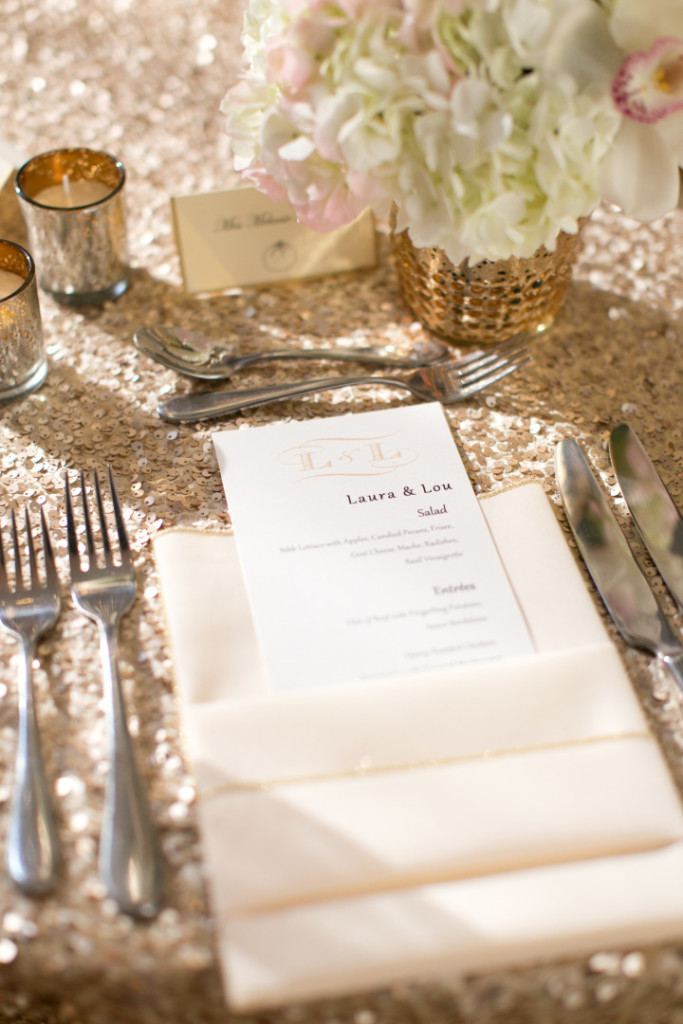 Hotel Monaco Wedding Personalized Menu Cards