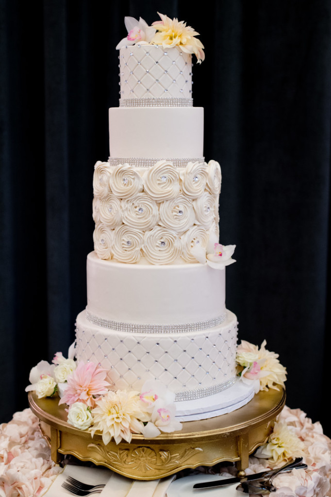 Hotel Monaco Wedding White Four Tier Cake