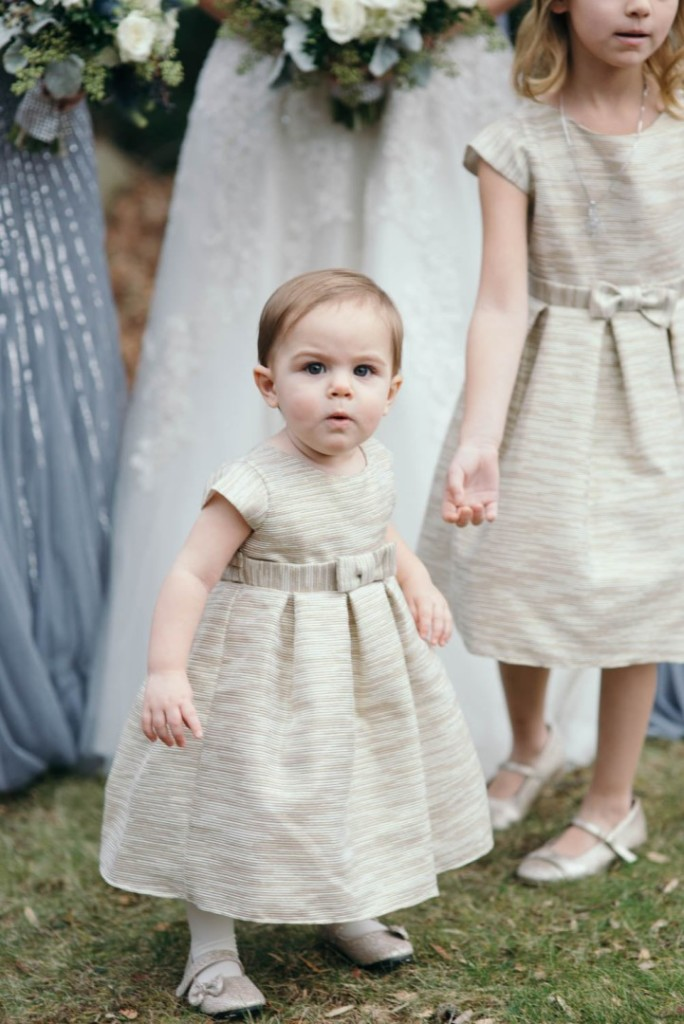 Country Club Pittsburgh Wedding Little Flower Girl Gold Dress