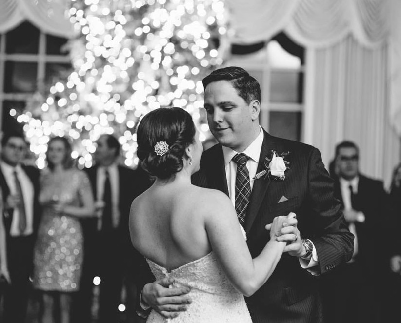 Country Club Pittsburgh Wedding Bride and Groom Reception Sharing Dance