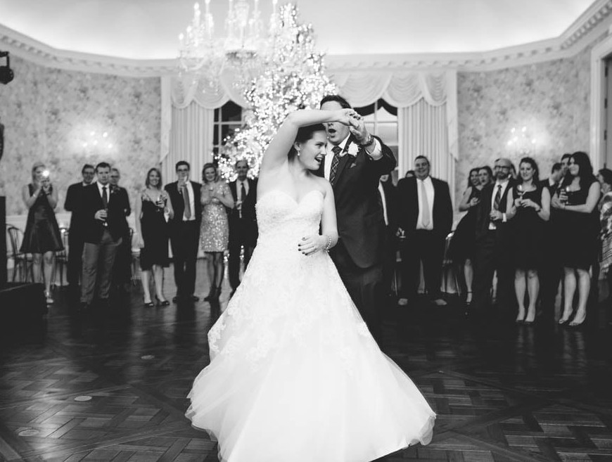 Country Club Pittsburgh Wedding Bride and Groom Dancing Together