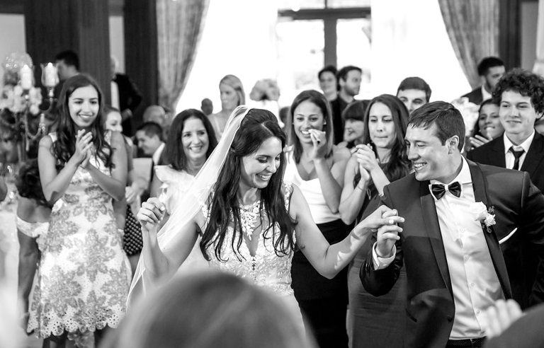 Nemacolin Woodlands Pittsburgh Wedding Black and White Dancing