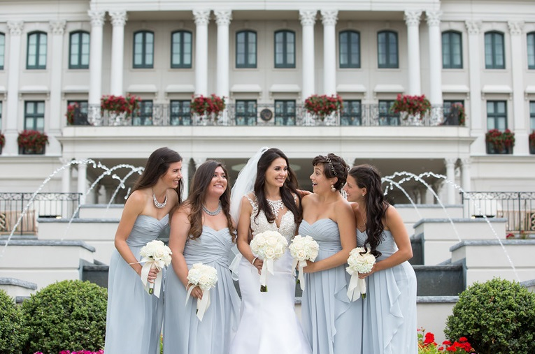 Nemacolin Woodlands Pittsburgh Wedding Happy Bridesmaid Pose