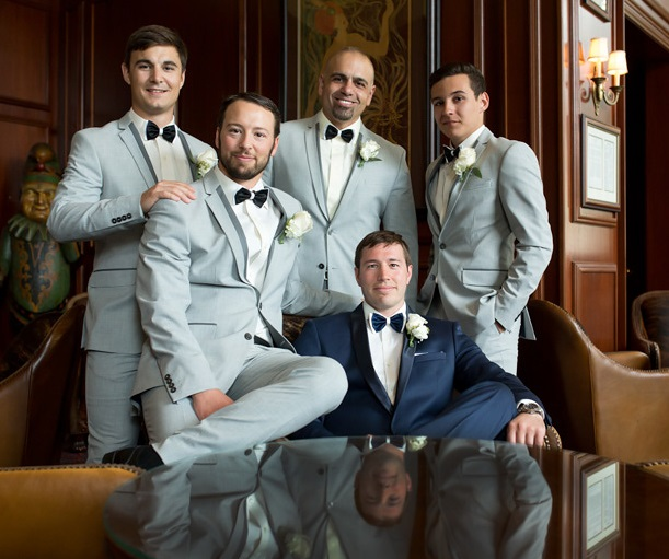 Nemacolin Woodlands Pittsburgh Wedding Elegant Groomsmen Pose