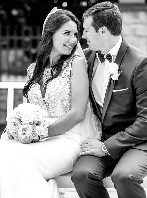Nemacolin Woodlands Pittsburgh Wedding Black and White Pose