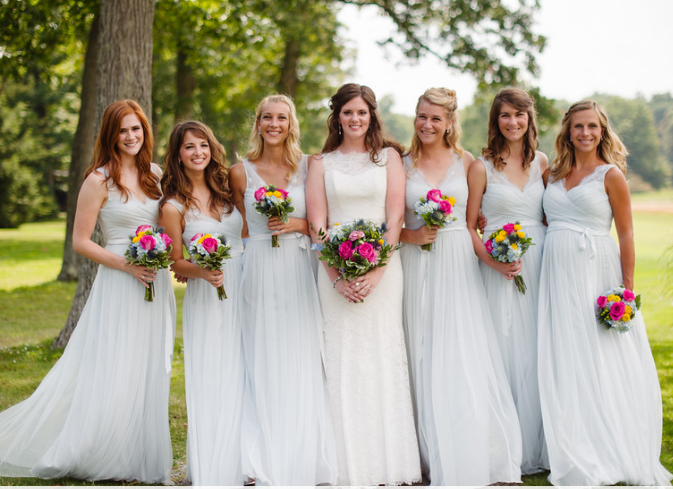 Seven Springs Pittsburgh Wedding Bridesmaids Pose