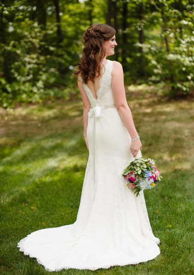 Seven Springs Pittsburgh Wedding Bride Alone