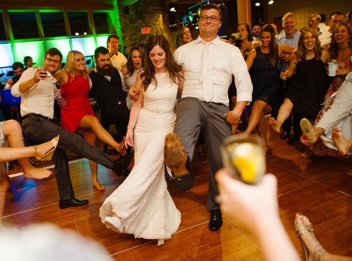 Seven Springs Pittsburgh Wedding Newlyweds Dance