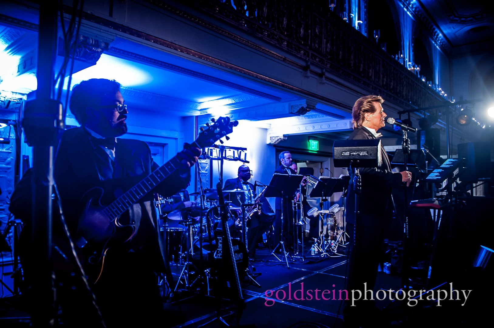 John Parker Band performing on stage at Luxury Hotel Wedding