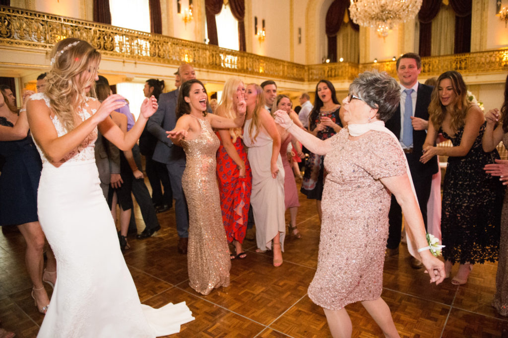 William Penn Wedding Bride Dancing with Guest