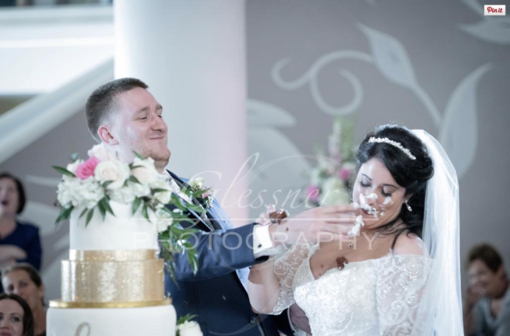 Altoona Heritage Discovery Center Wedding Bride Groom Cake Smash John Parker Band