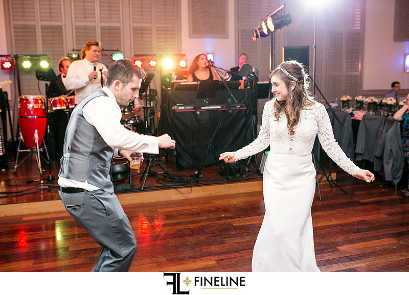 Noah's Event Center Wedding Bride Groom Dance John Parker Band