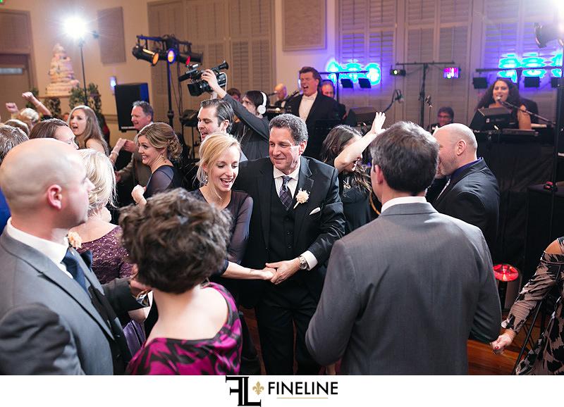 Noah's Event Center Wedding Guests Dancing John Parker Band